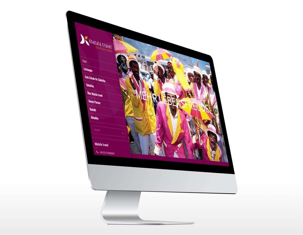 Referenz Erstellung WordPress Webseite khatala, Dortmund