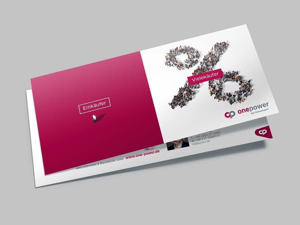 Referenz Erstellung Postkarte onepower, Unna