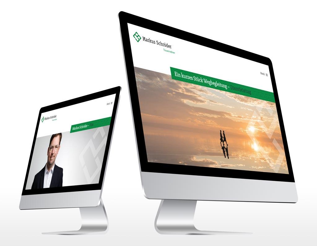Referenz Erstellung WordPress Webseite M. Schröder, Dortmund