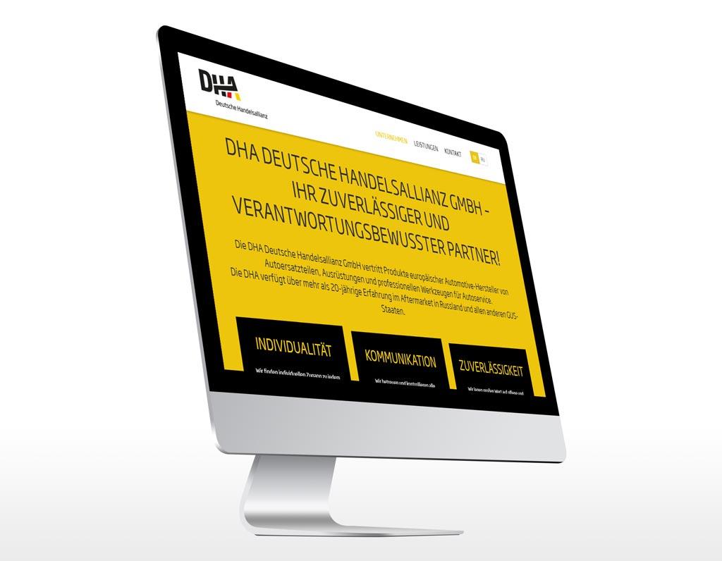 Referenz Erstellung TYPO3 Webseite DHA, Unna