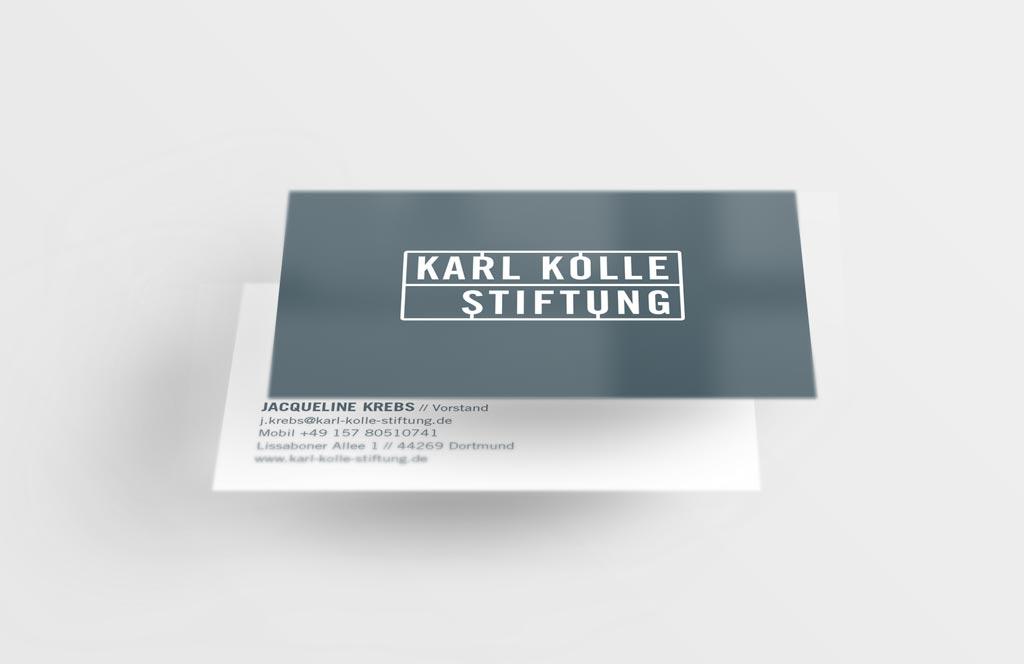 Referenz Erstellung Visitenkarte Karl Kolle, Dortmund