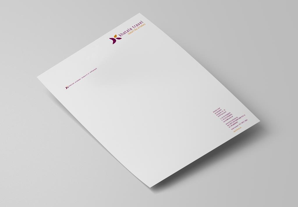 Referenz Erstellung Briefpapier khatala, Dortmund