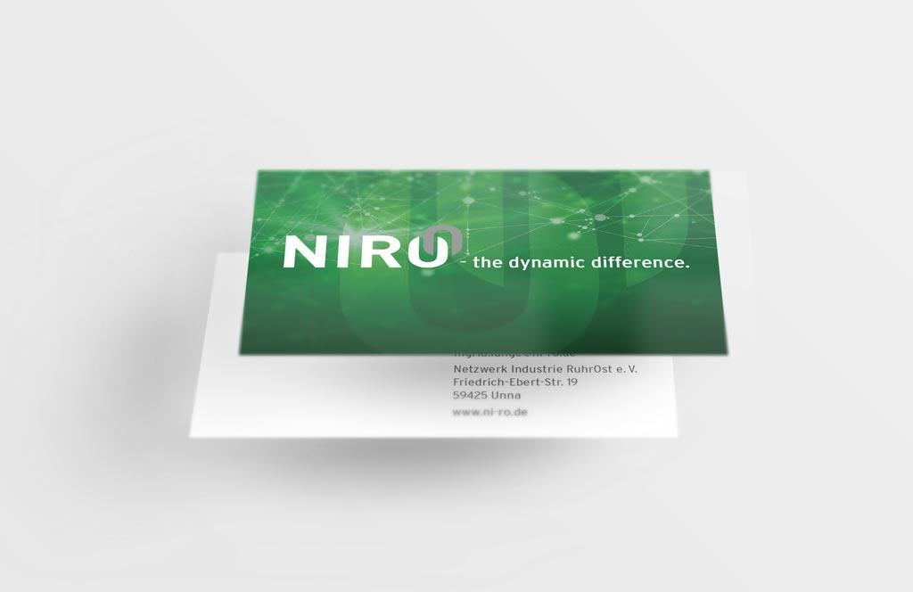 Referenz Erstellung Visitenkarte NIRO, Unna