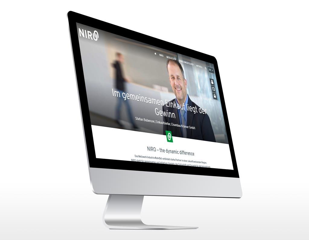 Referenz Erstellung TYPO3 Webseite NIRO, Unna