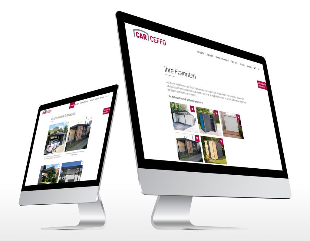 Referenz Erstellung WordPress Webseite Carceffo, Bielefeld