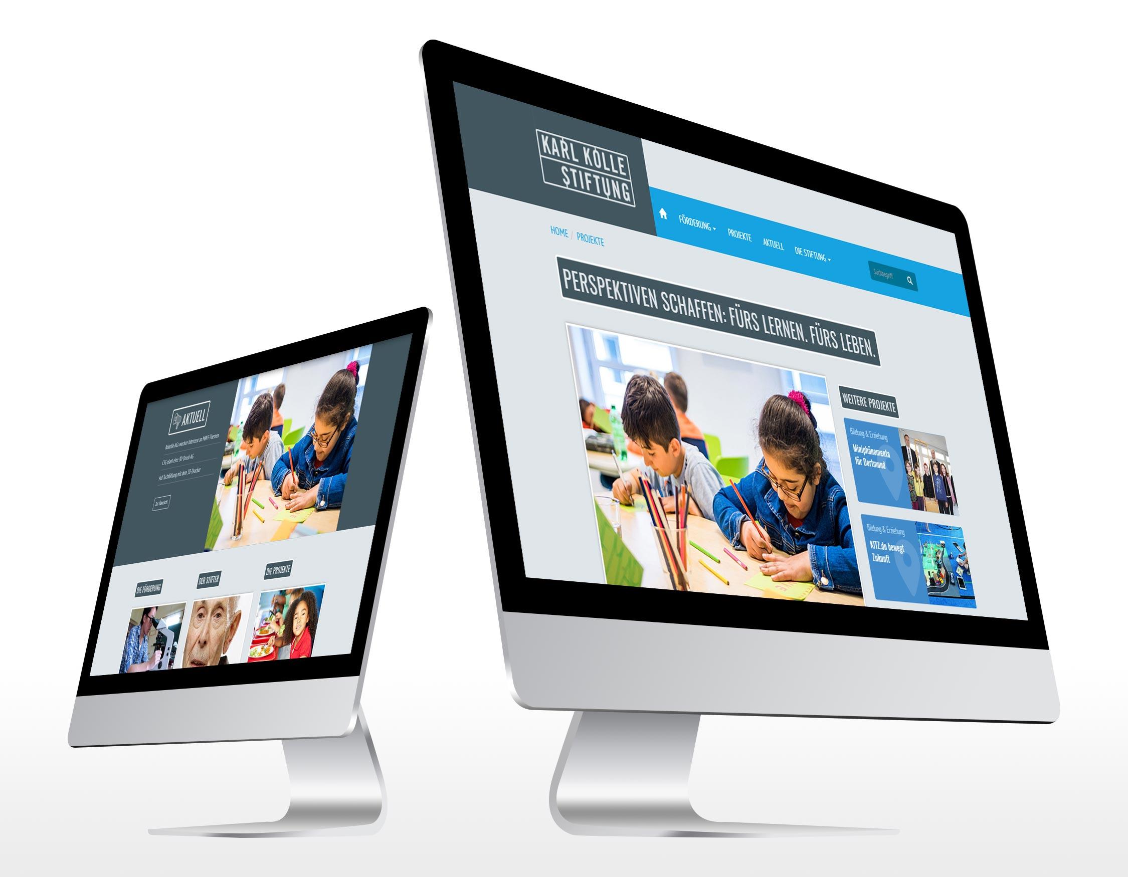 Referenz Erstellung TYPO3 Webseite Karl-Kolle-Stiftung, Dortmund