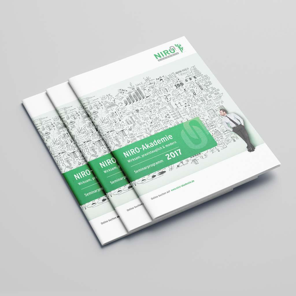 Referenz Erstellung Broschüre NIRO-Akademie, Unna