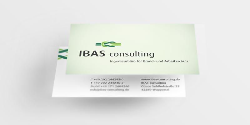 Referenz Erstellung Visitenkarte ibas, Wuppertal