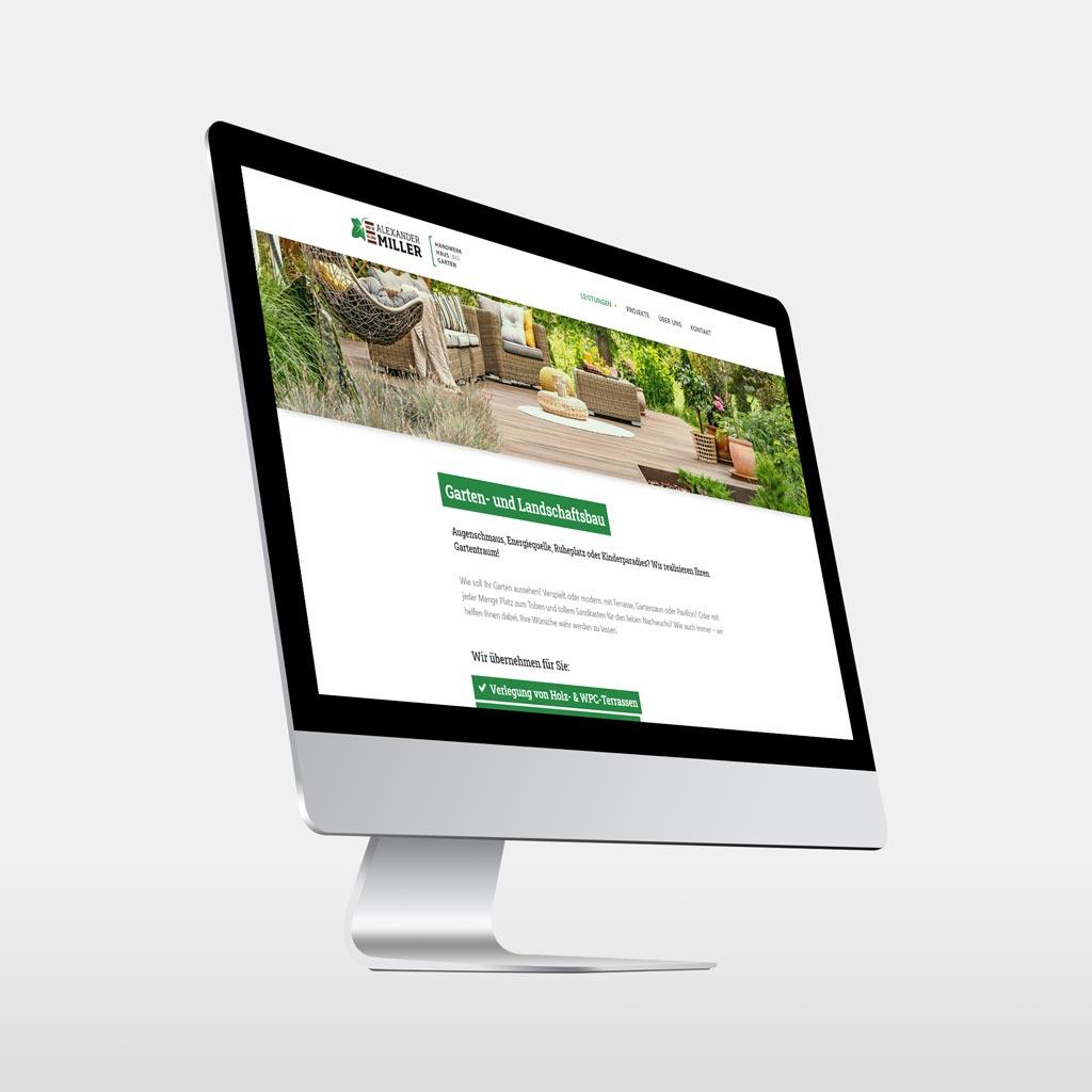 Referenz Erstellung WordPress Webseite Handwerk Miller, Kamen