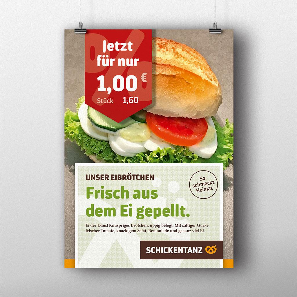 Referenz Erstellung Plakat Bäckerei Schickentanz, Dortmund