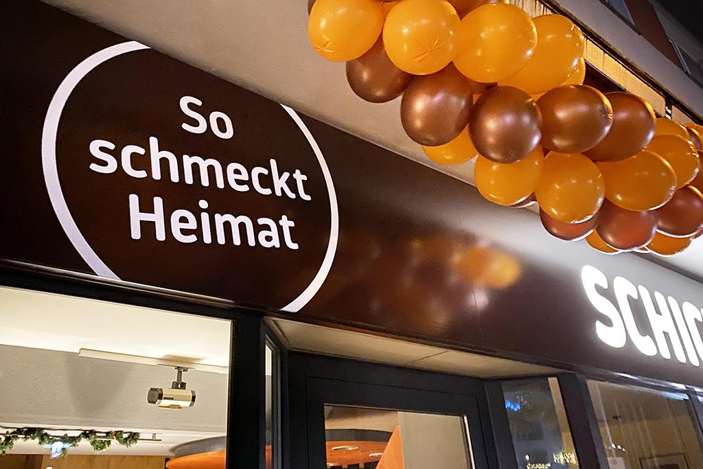 Referenz Erstellung Außenwerbung Bäckerei Schickentanz, Dortmund