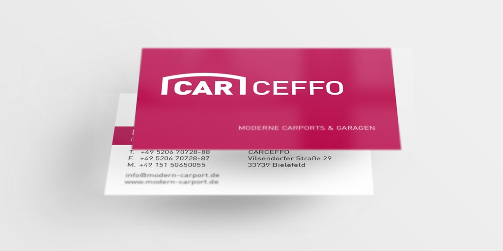 Referenz Erstellung Visitenkarte Carceffo, Bielefeld