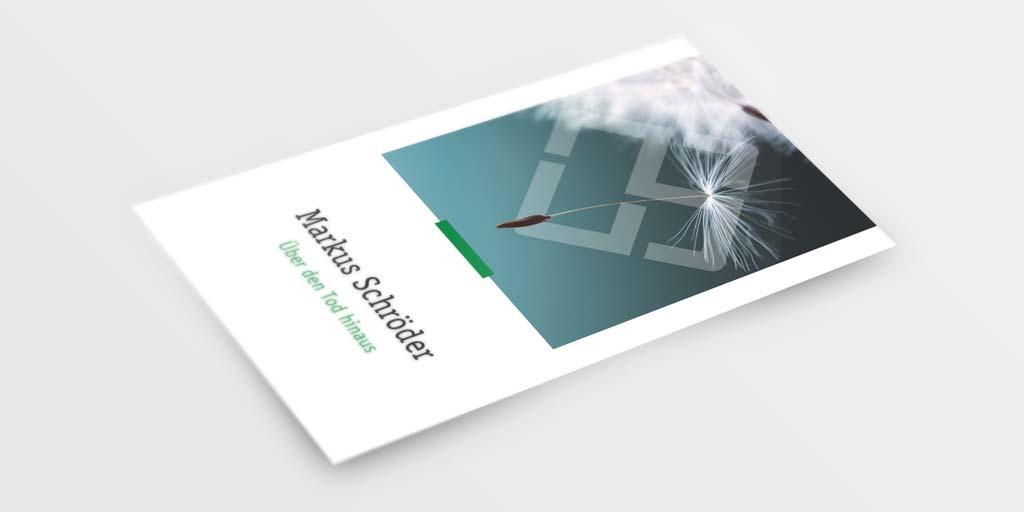 Referenz Erstellung Visitenkarte Trauerredner, Dortmund