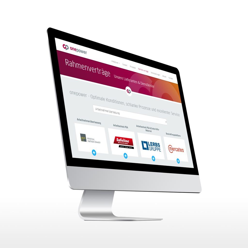 Referenz Erstellung TYPO3 Webseite onepower, Unna