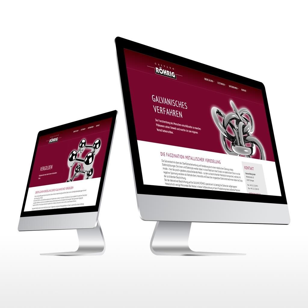 Referenz Erstellung Webseite Galvano Röhrig, Solingen